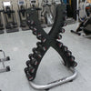 Hammer Strength Dumbbells with Life Fitness Rack
