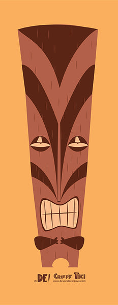 Creepy Tiki 3 - Fine Art Mini Print