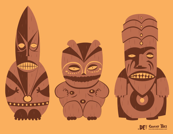 Creepy Tikis 2 - Fine Art Print