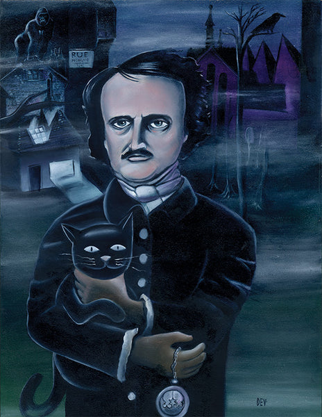 Poe (Original Oil Painting)