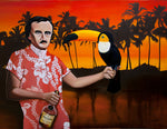Poe In Paradise - Original Oil Painting