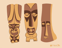 Creepy Tikis 1 - Fine Art Print