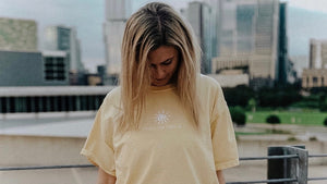 where the light is - sunshine tee embroidered