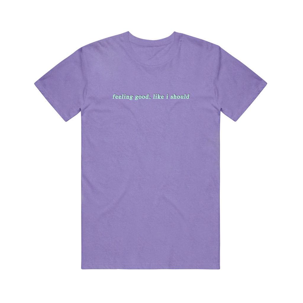 feeling good embroidered violet tee