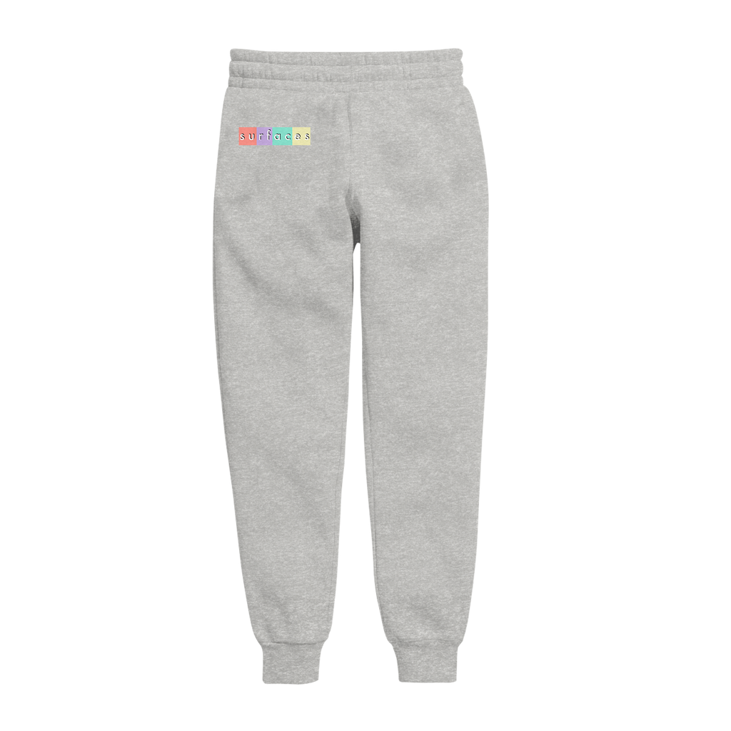 multi-color logo heather grey