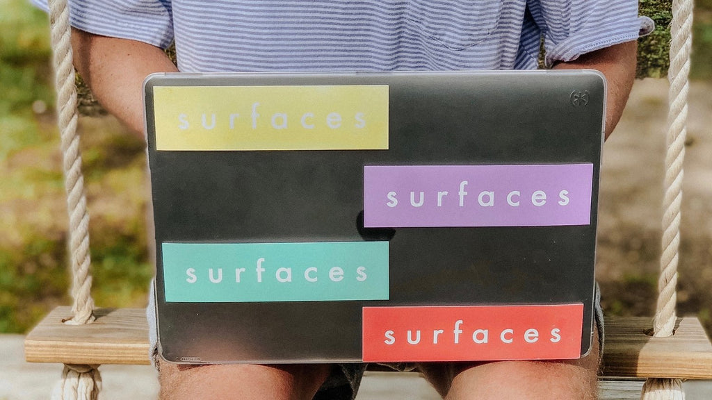 surfaces logo sticker pack