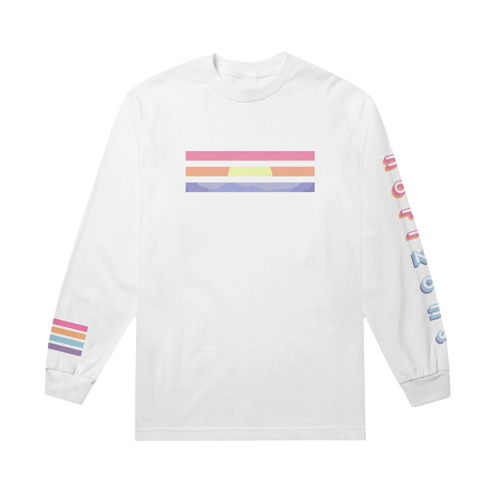 Horizons Lines White Long Sleeve