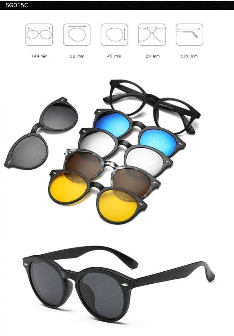5 in 1 Magnetic Lens Sunglasses default 5 in 1 Magnetic Lens Sunglasses