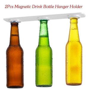 MAGNETIC FRIDGE BOTTLE HANGER/