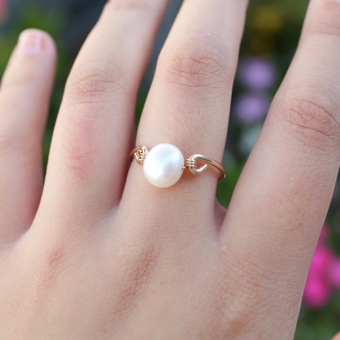 tsuki-jewelry - Pearl Ring - Mikazuki Crystal Co. - Ring