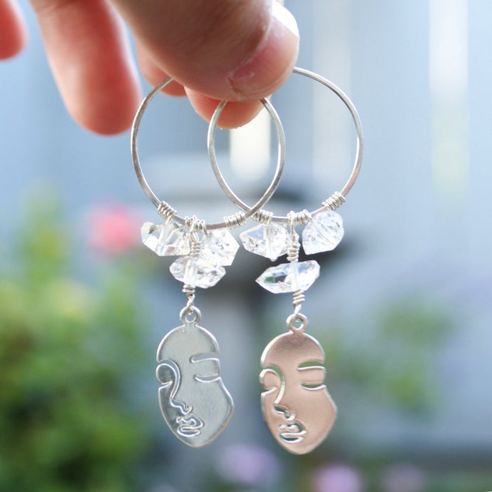 tsuki-jewelry - Aphrodite Mini Hoops - Mikazuki Crystal Co. - Earrings