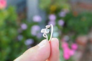 tsuki-jewelry - Herkimer Diamond Ring - Mikazuki Crystal Co. - Ring