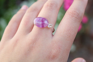 tsuki-jewelry - Fluorite Ring - Mikazuki Crystal Co. - Ring