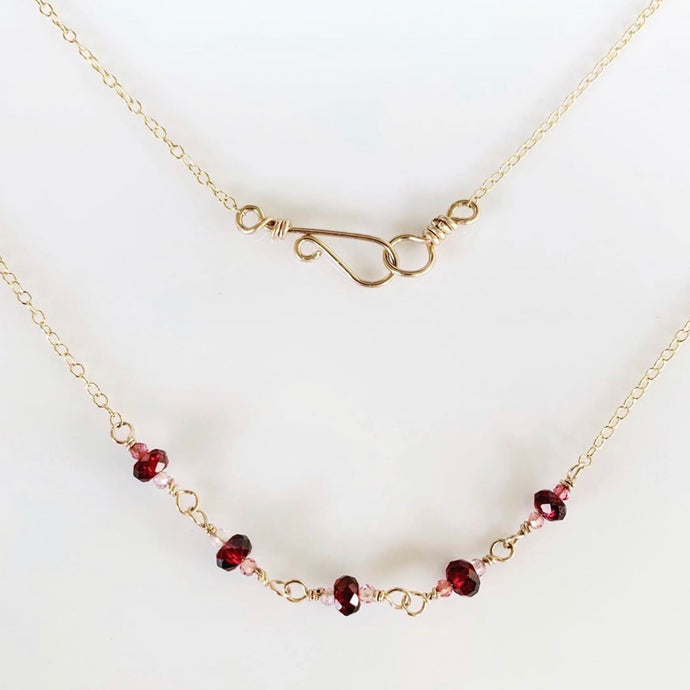 tsuki-jewelry - Rosebud Necklace - Mikazuki Crystal Co. - Necklace