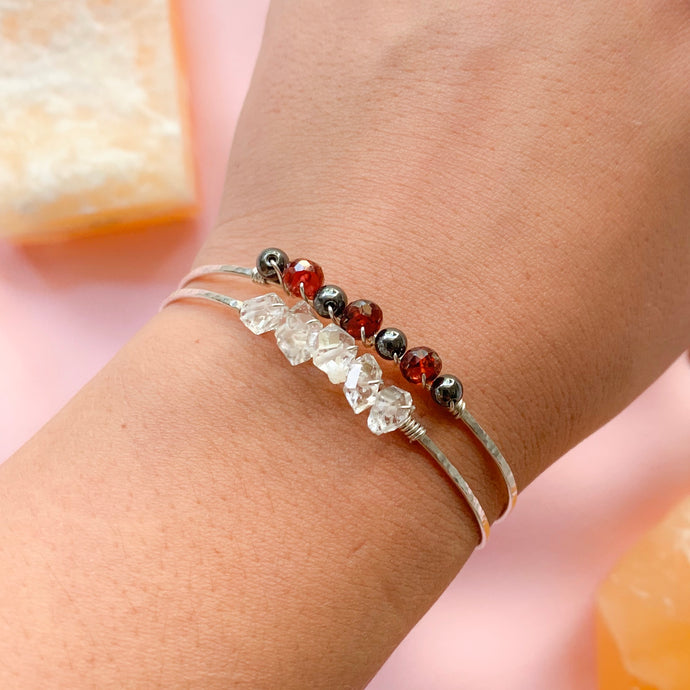 tsuki-jewelry - Gemstone Bangle - Mikazuki Crystal Co. - Bracelet