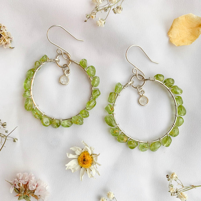 tsuki-jewelry - Eternal Springtime Hoops - Mikazuki Crystal Co. - Earrings