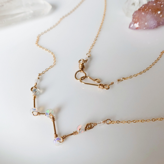 tsuki-jewelry - Cassiopeia Necklace - Mikazuki Crystal Co. - Necklace