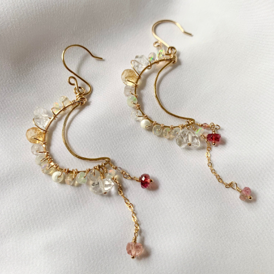 tsuki-jewelry - Mikazuki Earrings - Mikazuki Crystal Co. - Earrings