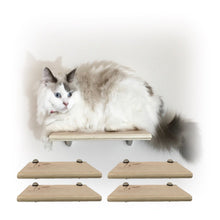 Load image into Gallery viewer, Purrfectly Catastic, cat cats kitten kitty modern contemporary wall mount mounted indoor shelf shelves shelving step steps stairs bed corner condo tower hammock house perch perches furniture climbing handcrafted tree trees tower towers wave modular wood wooden unique carpet canvas living bedrroom playroom
