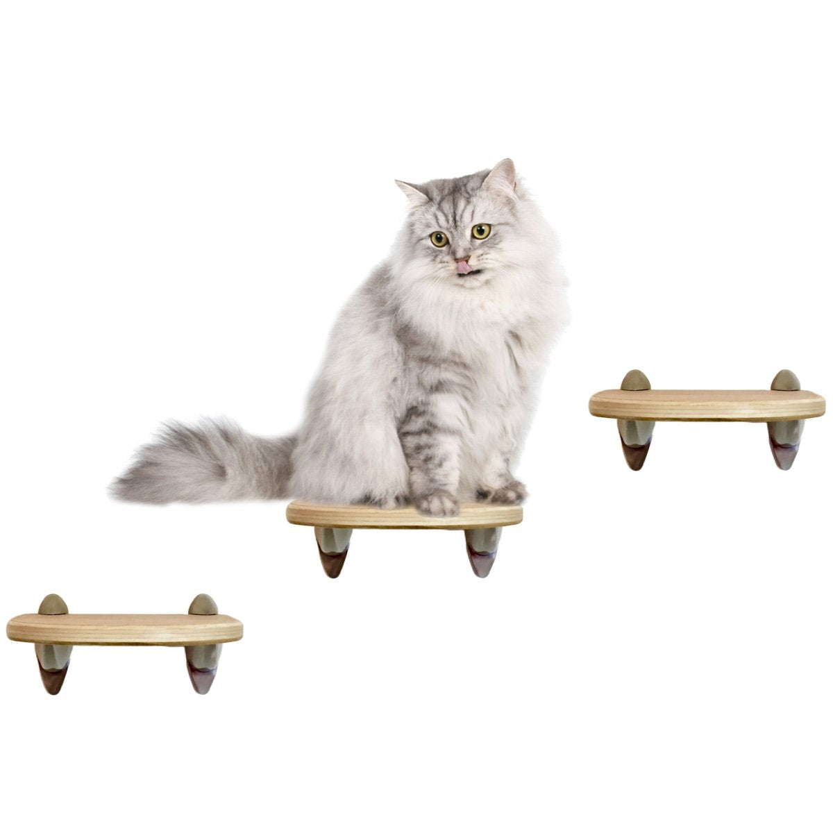 Purrfectly Catastic Creations - Handcrafted Modern Cat Climbing Wall Furniture cat step steps shelf shelves stairs perch tree tower