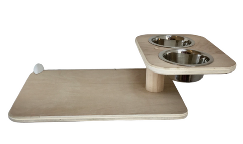 Cat Wall Raised Feeder Diner Shelf (1) - Rounded Oblong