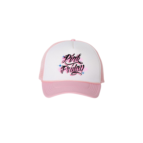 PINK FRIDAY AIRBRUSH TRUCKER HAT