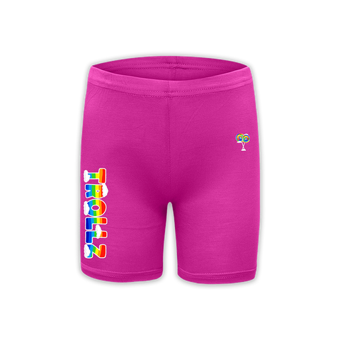 TROLLZ FITTED SHORTS - PINK