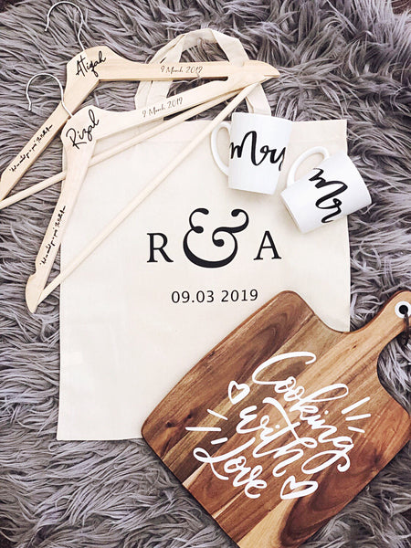 Monogrammed Cotton Tote Bags