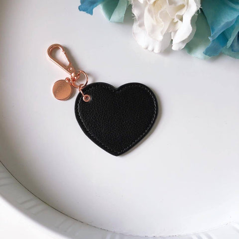 Love Heart Leather Keyring