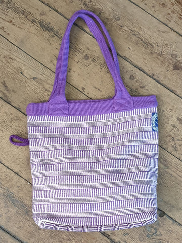 HANDWOVEN BAG PURPLE