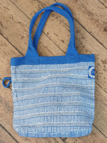 HANDWOVEN BAG BLUE