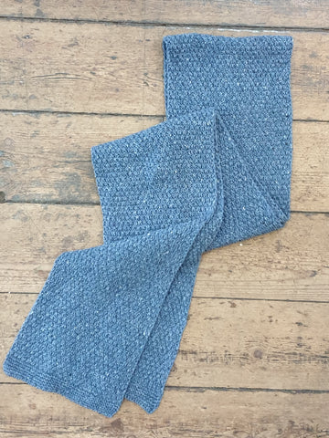 MOSS STICH SCARF SEASPRAY