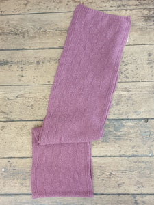 DIAMOND TEXTURE SCARF DUSKY ROSE