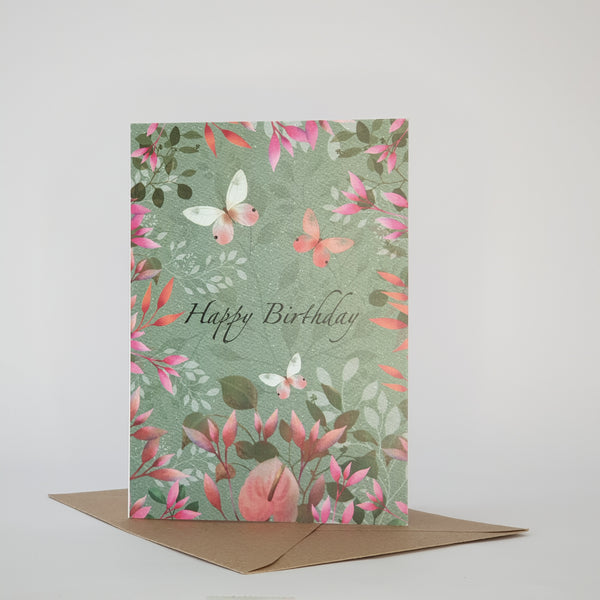 HAPPY BIRTHDAY CARD TEAL COLOUR