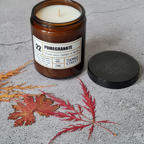 POMEGRANATE APOTHECARY GLASS CANDLE 200G ⭐