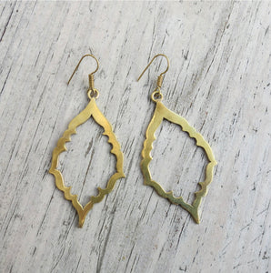HANDMADE MINIMALIST BRASS EARRINGS