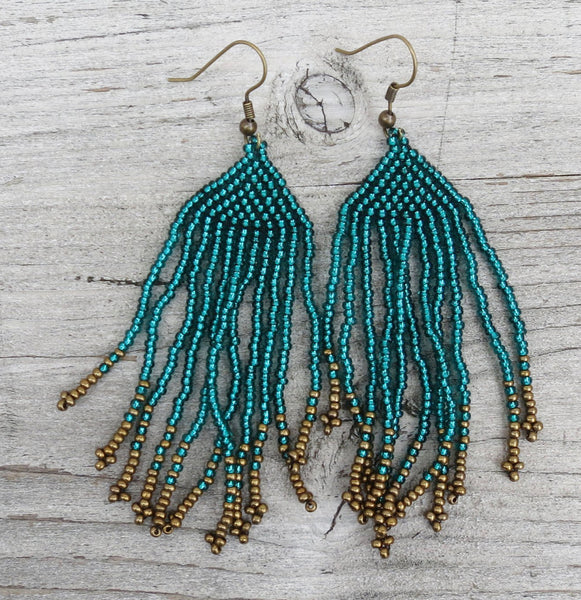 AURA QUE BEADED EARRINGS