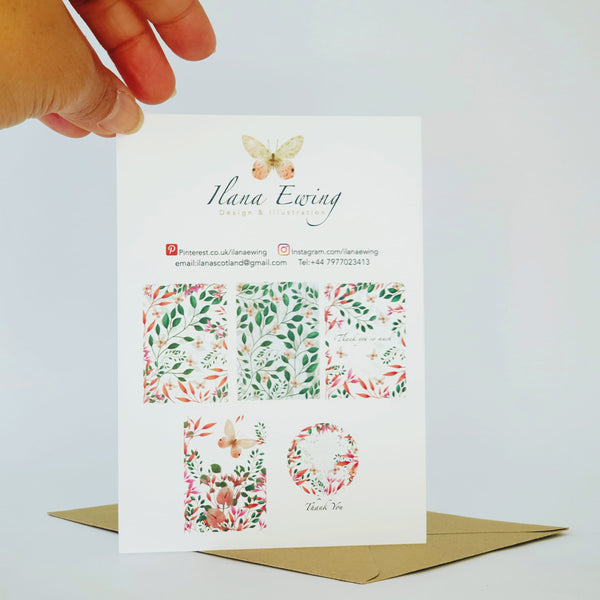 MIXED PACK FLORAL GREETING CARDS -  ANY OCCASION