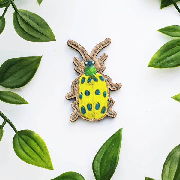 BUG WOODEN BROOCH