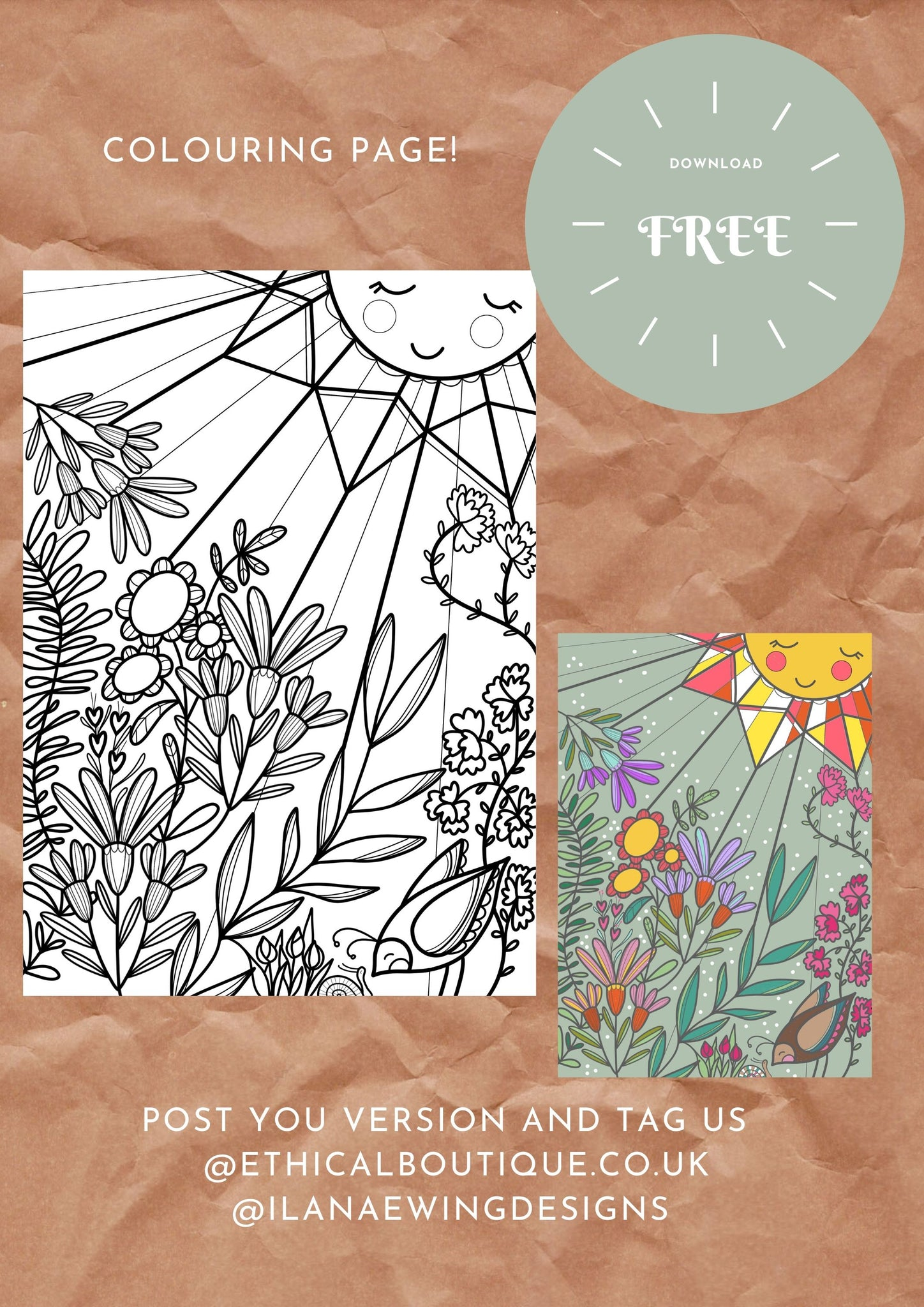 FREE Colouring Downloadable Artwork for Kids