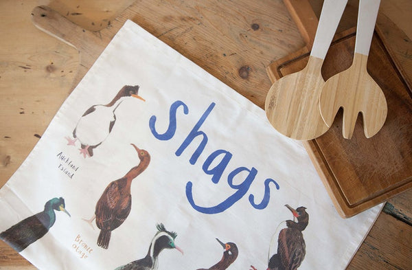 FUNNY ILLUSTRATED TEA TOWELS - SHAGS