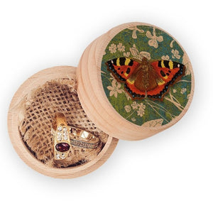 BUTTERFLY WOODEN RING BOX