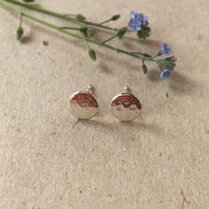 SMALL HAMMERED STUDS - RECYCLED SILVER