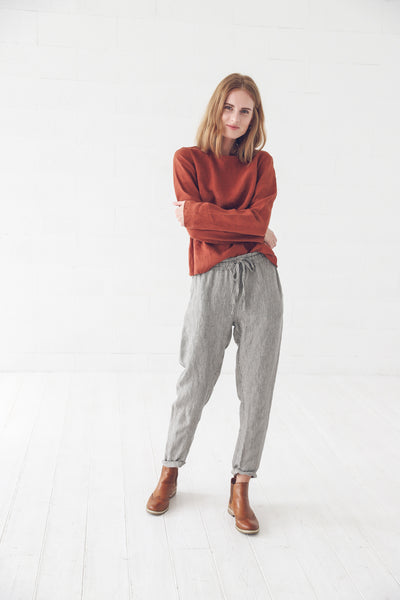 LINEN TROUSERS STRIPES