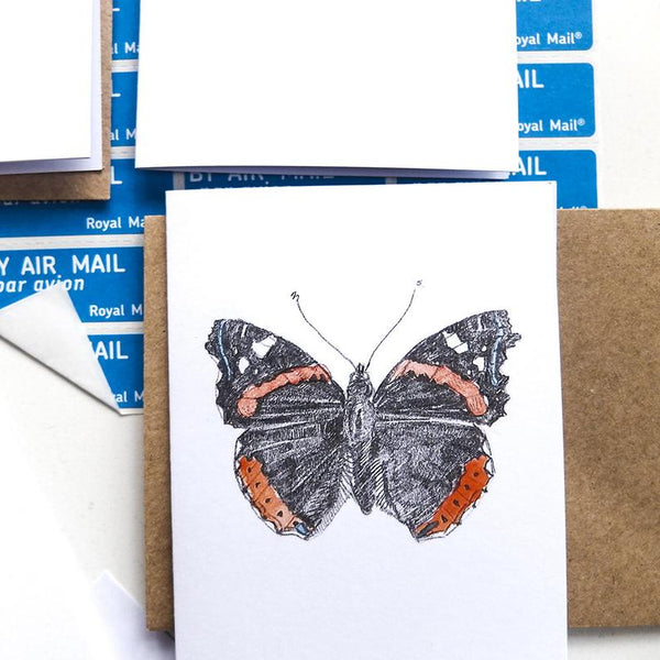 MINI - BUTTERFLIES - THANK YOU NOTELETS WITH ENVELOPE