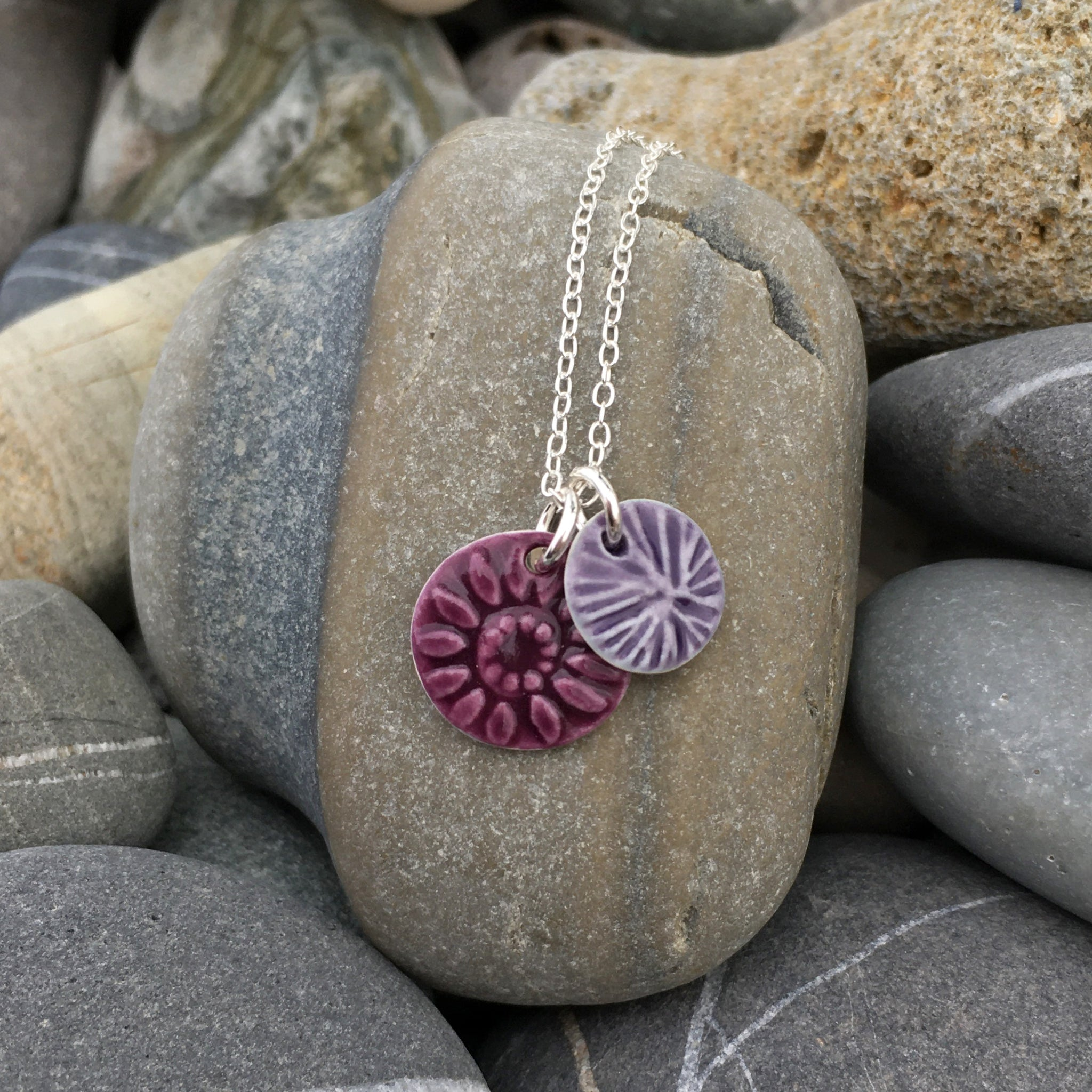 ORIGIN DOUBLE NECKLACE - PLUM