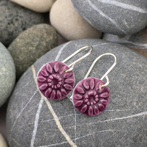 ORIGING EARRINGS - PLUM