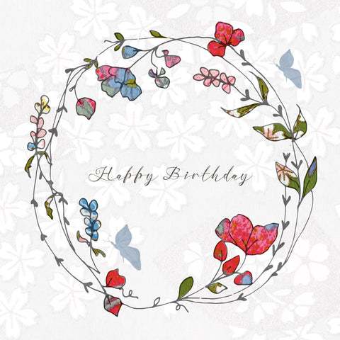 HAPPY BIRTHDAY WREATH CARD