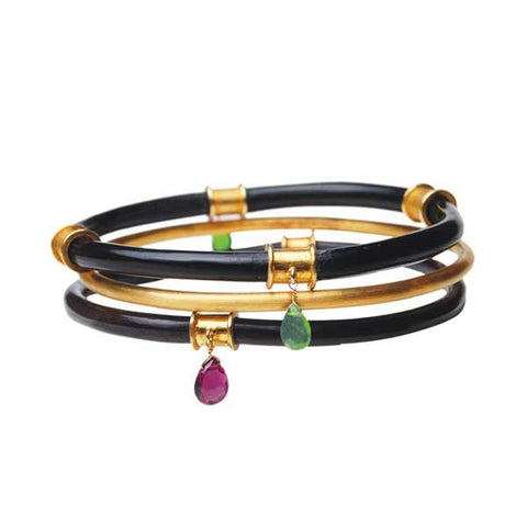 06. Classic Black Horn Bangle