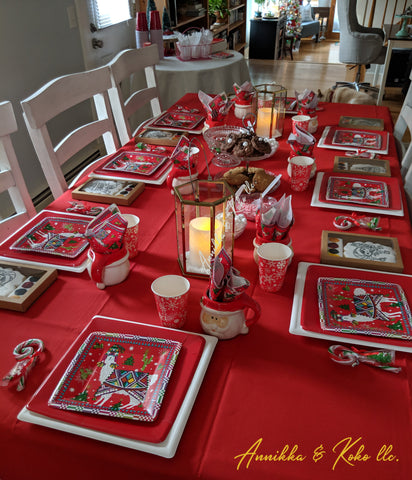 Pancakes and Pajama Party Tablescape